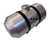 2 Gallon - 6X20 Spun Aluminum Gas Tank - Internal Baffle