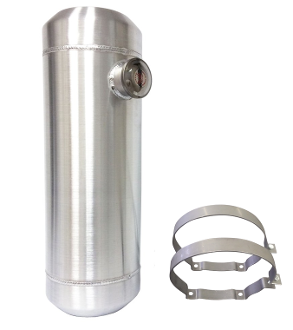 10x33 End Fill Spun Aluminum Gas Tank 11 Gallon - 1/4 NPT Offset